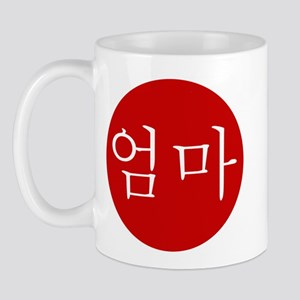 """Mom"" in Red Mug"
